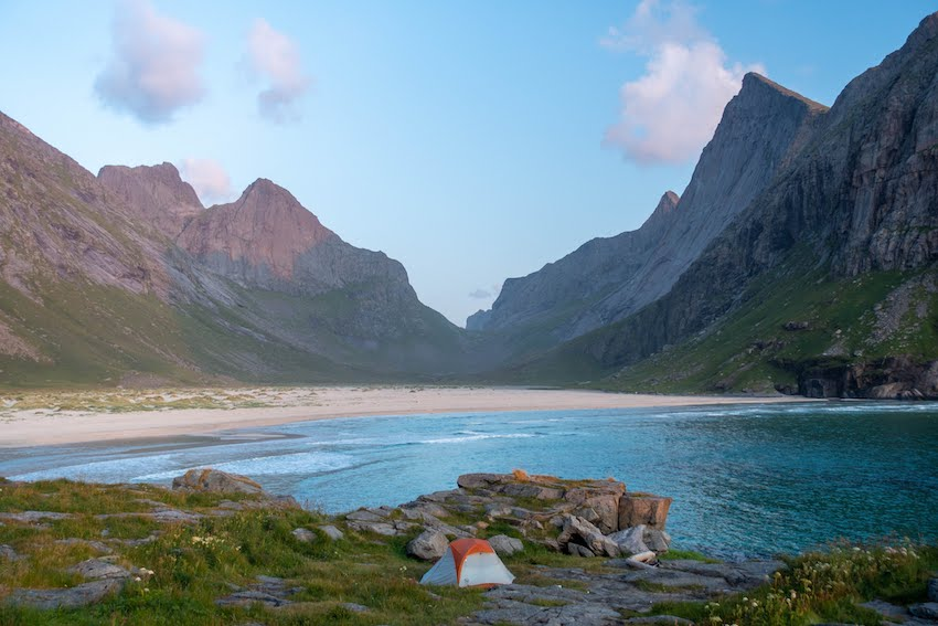 Mountain and sea in Norway