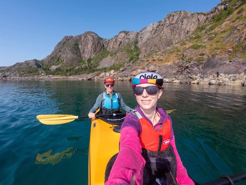 Couple on honeymoon in Norway kayaking