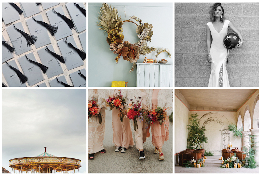 Collection of images of best wedding instagram accounts to follow in 2020