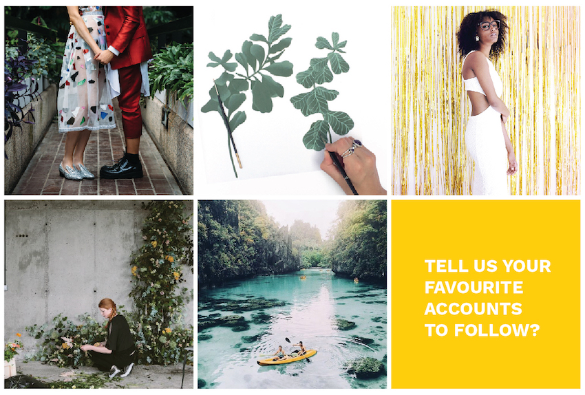 Collection of wedding insta images asking readers to tell us their favourite accounts