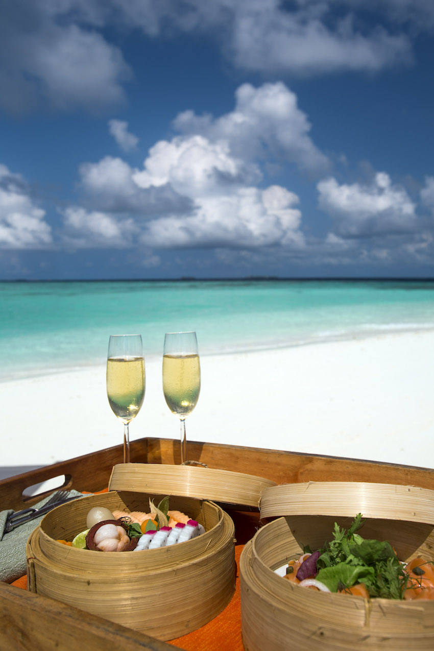 Private picnic on the beach, the Maldives