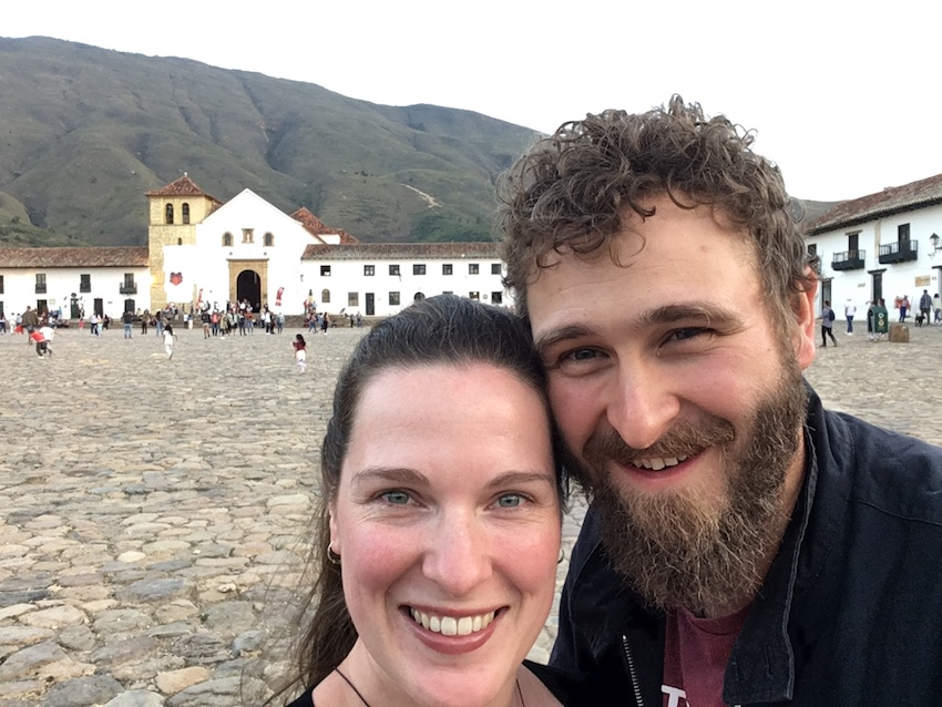 Couple on honeymoon in Colombia