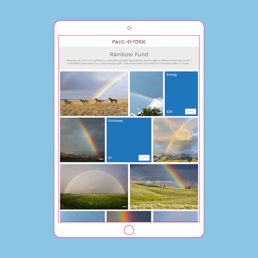 Patchwork Rainbow Fund in an iPad