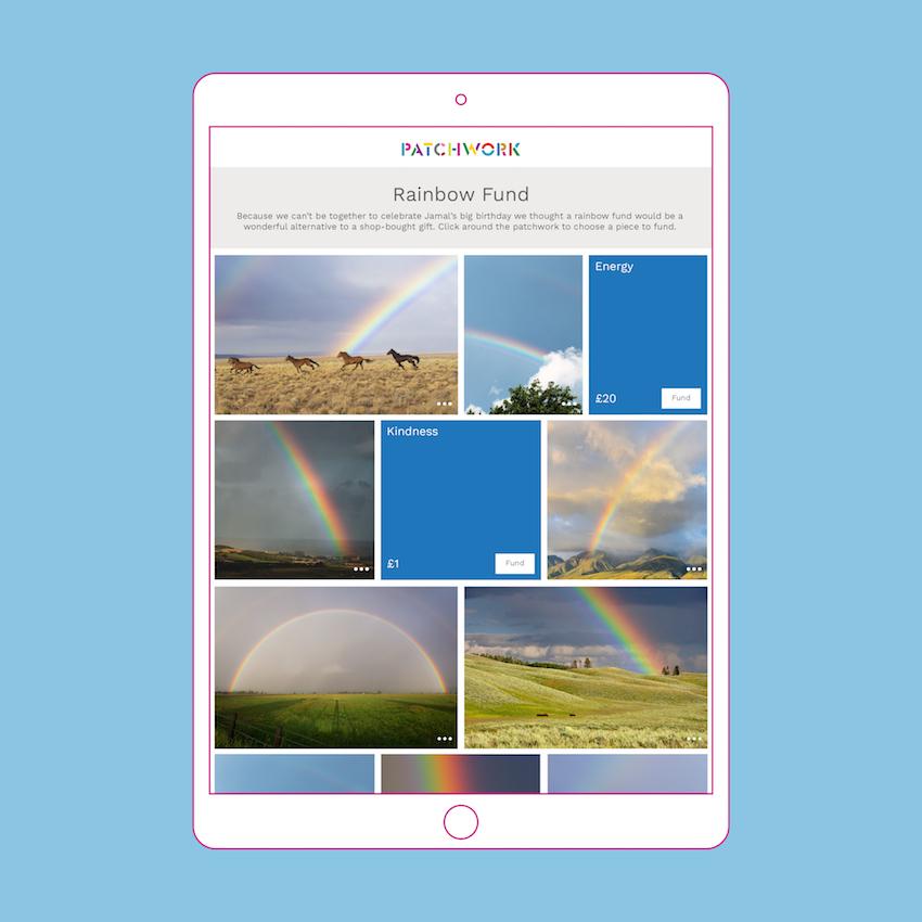 Patchwork Rainbow Fund in an iPad