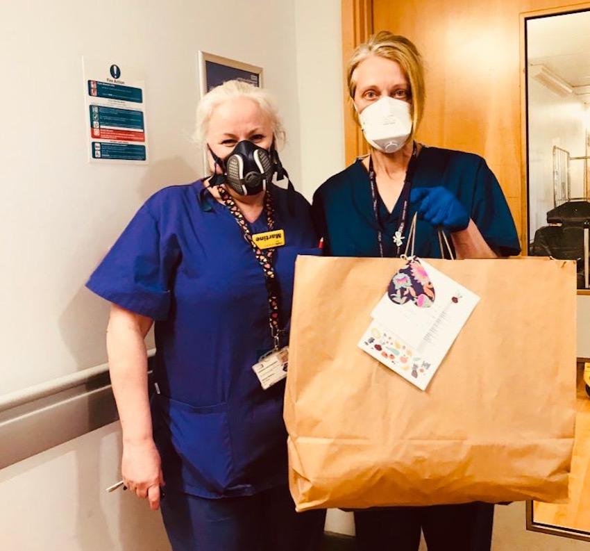 Food packages being delivered to Lewisham hospital NHS staff