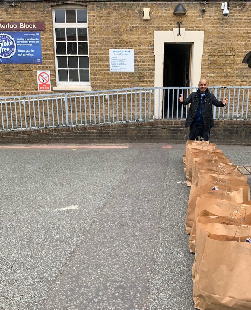 Frontline food packages being delivered to Lewisham hospital NHS staff