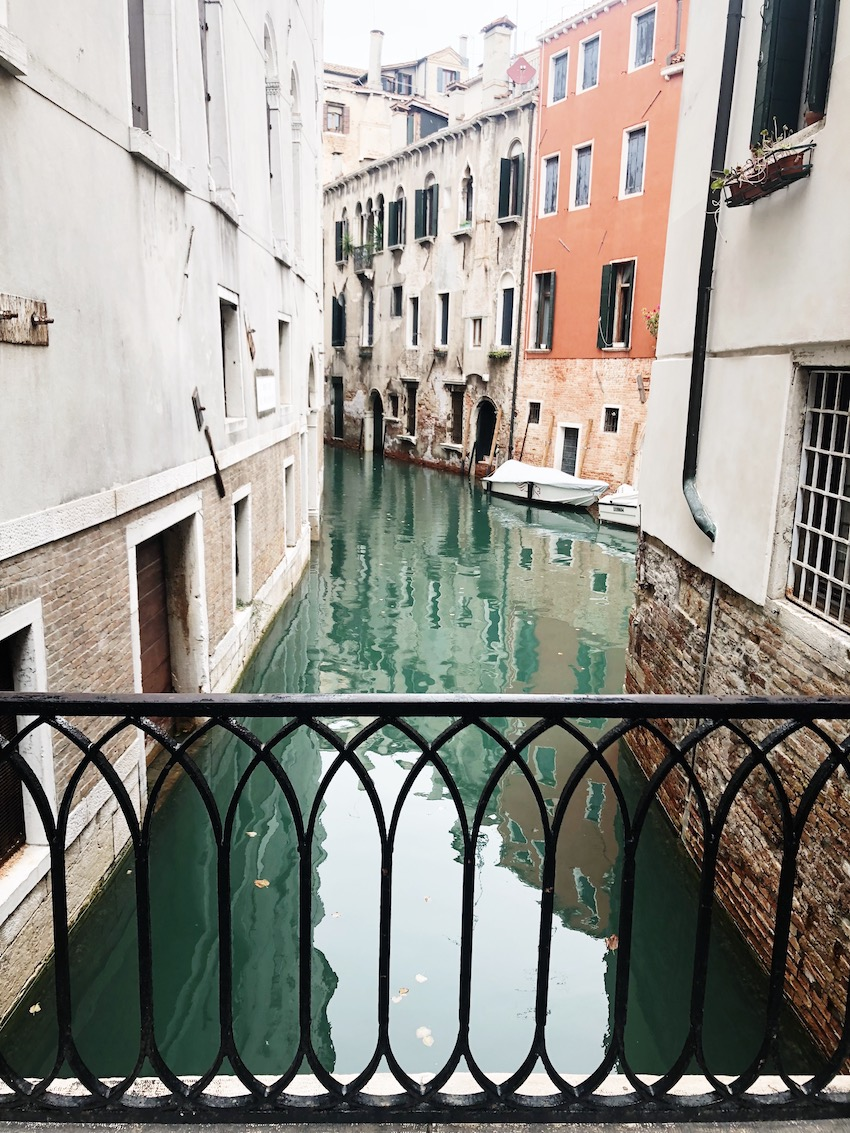 View of canal in Castello, Venice, Italy