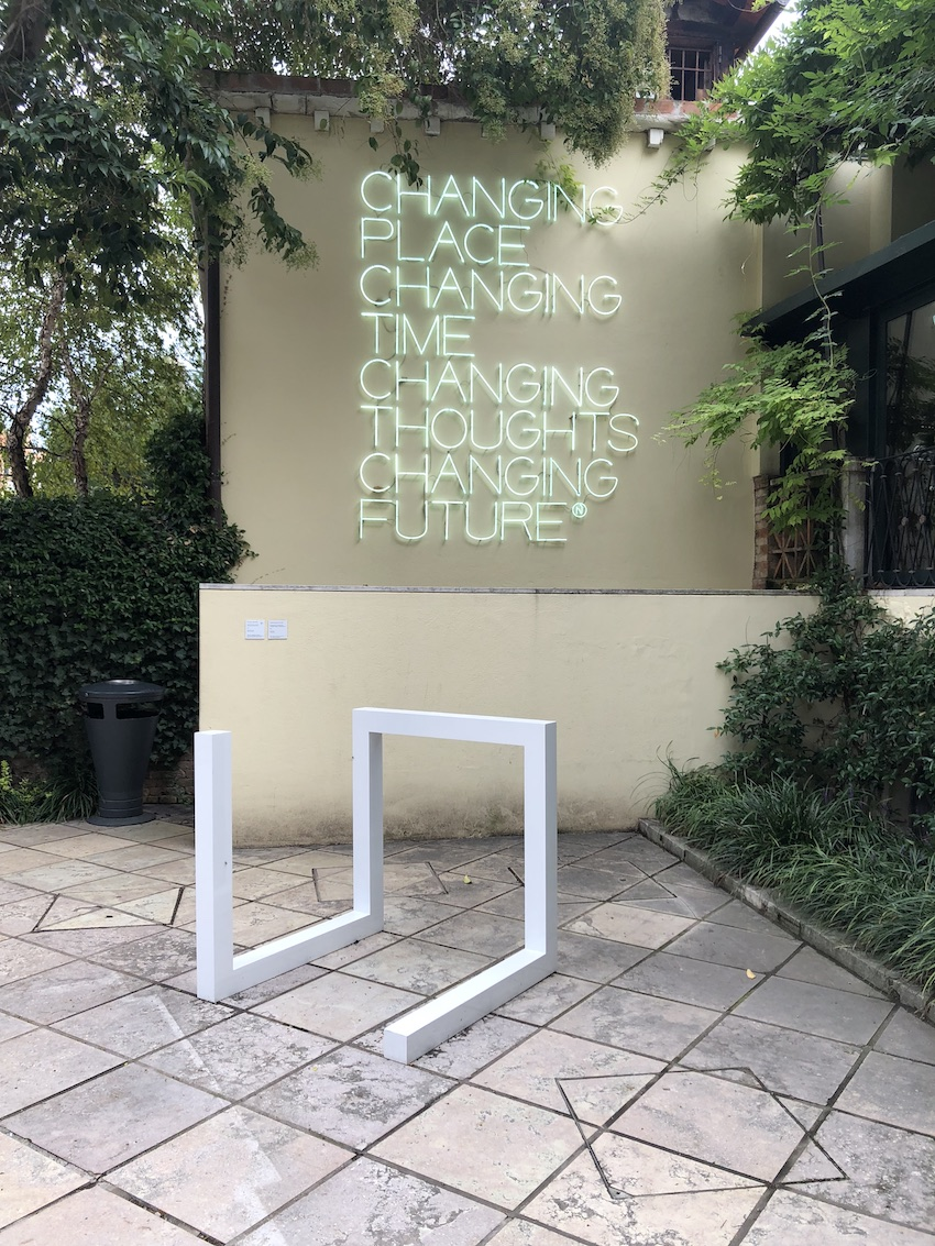 Exterior exhibit at Peggy Guggenheim Collection