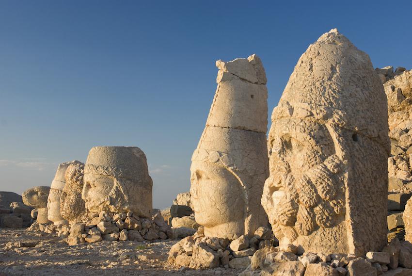 Ancient site of Nemrut Dagi, Turkey honeymoon destination