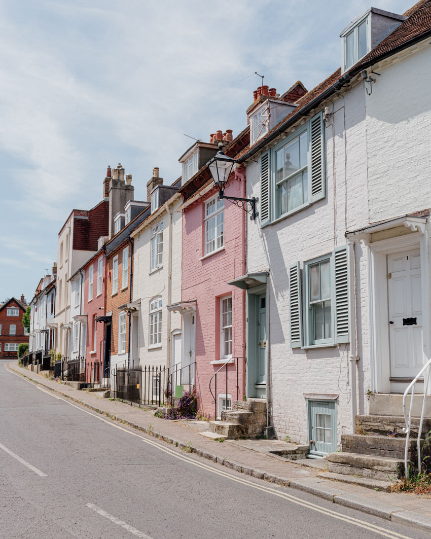pastel coloured street - drive by baby shower