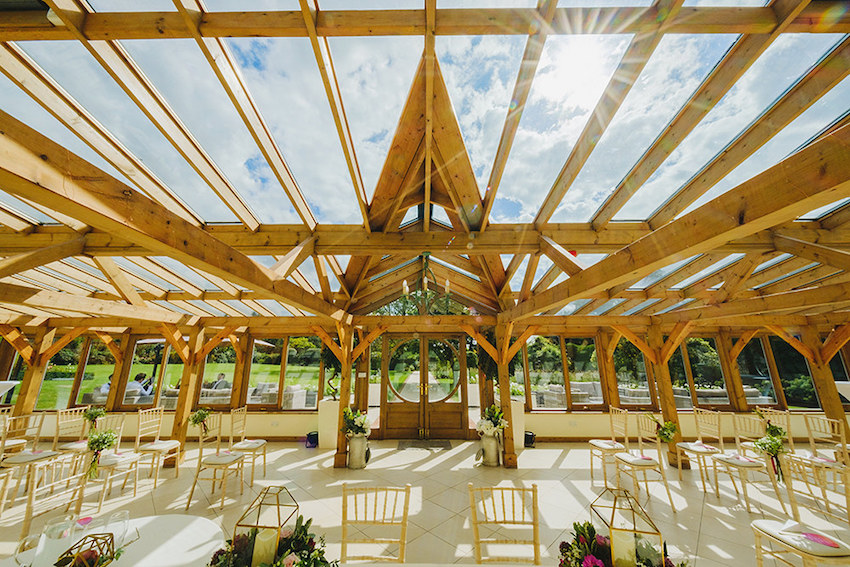 Gaynes Park wedding venue in the sunshine