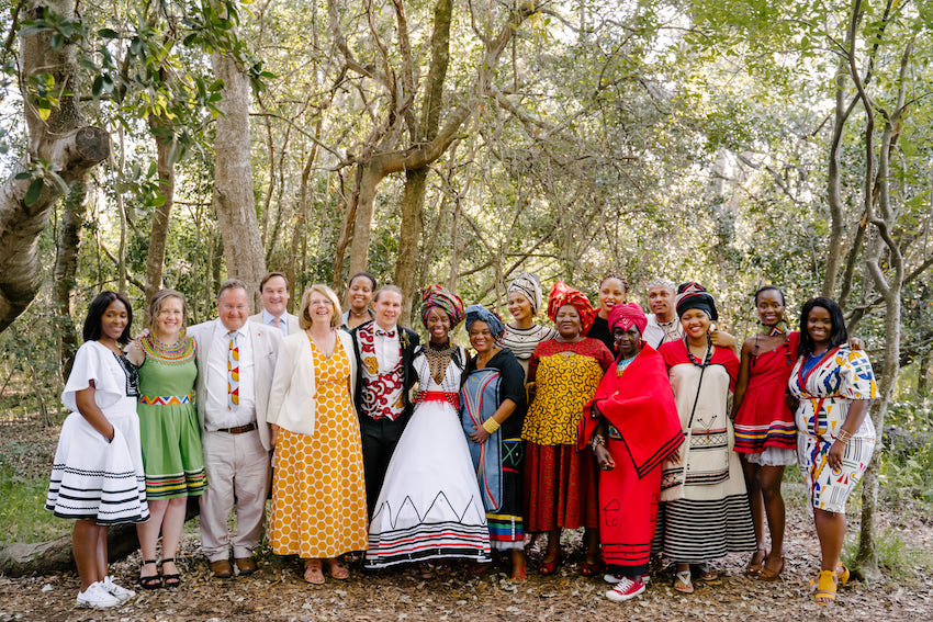 family group wedding photo - South African wedding of Nozzi and Chris