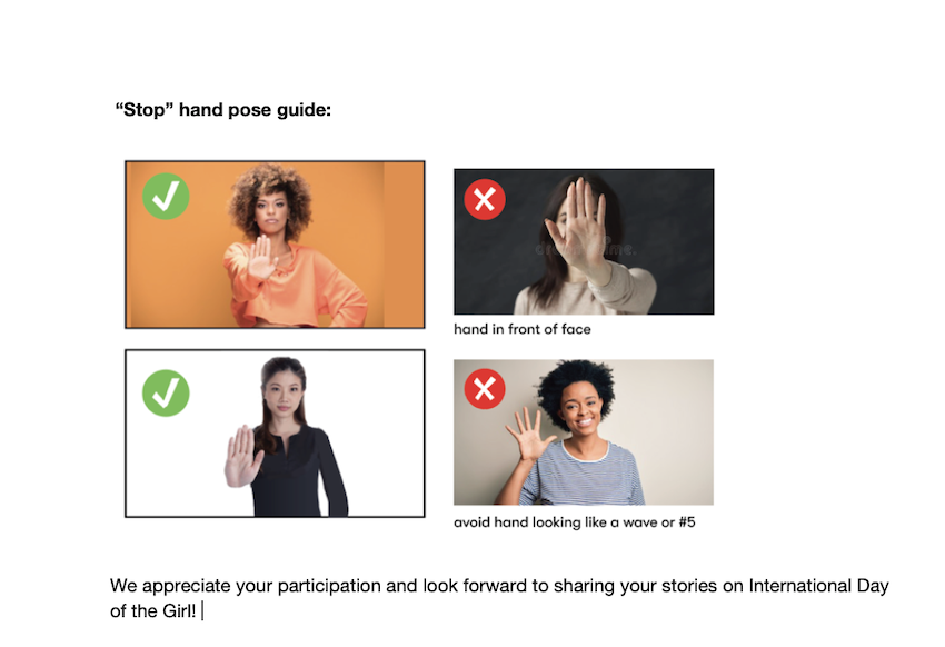 Guide to posting selfies on VOW social media campaign